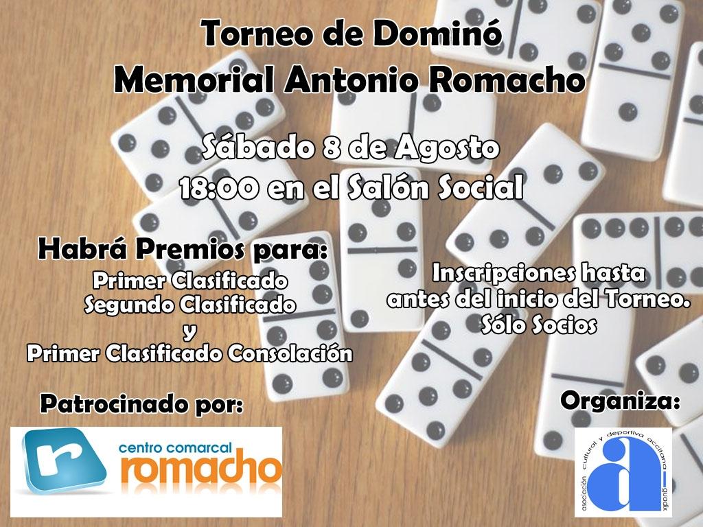 Torneo de Dominó Memorial Antonio Romacho - Acyda