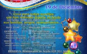 Cena Navidad 2015 Deportistas Acyda