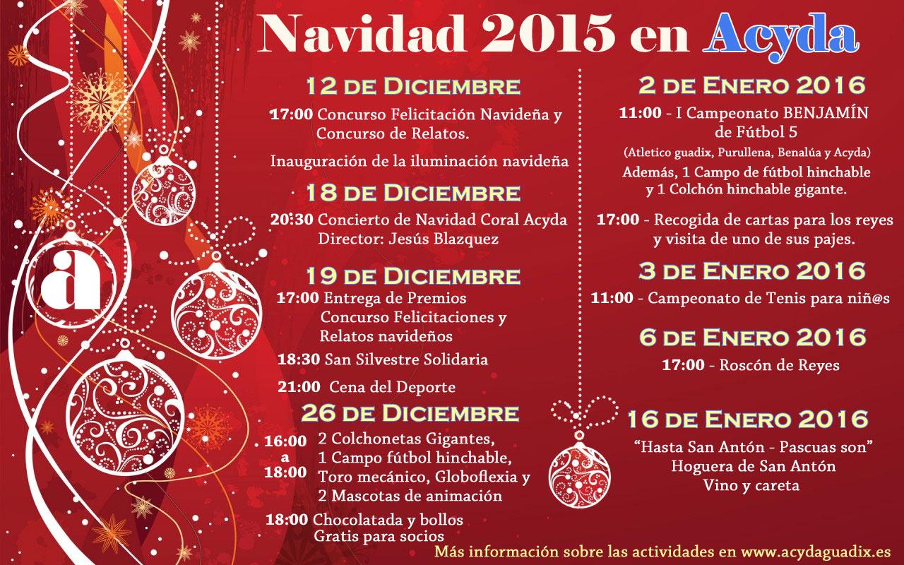 Actividades Navidad 2015 en Acyda